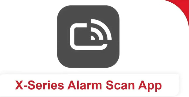 X-Series Alarm Scan App: how to video image
