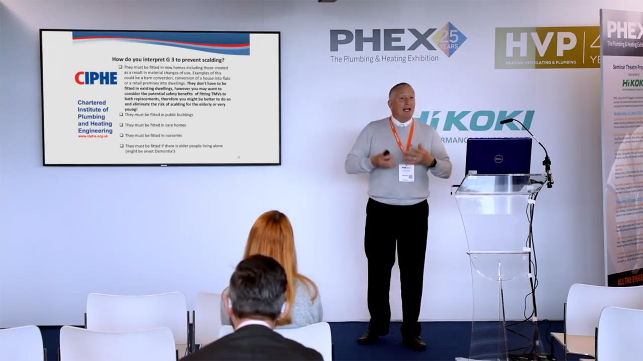 How to prevent scalding and stamp out legionella - PHEX Tottenham 2019 Seminar image