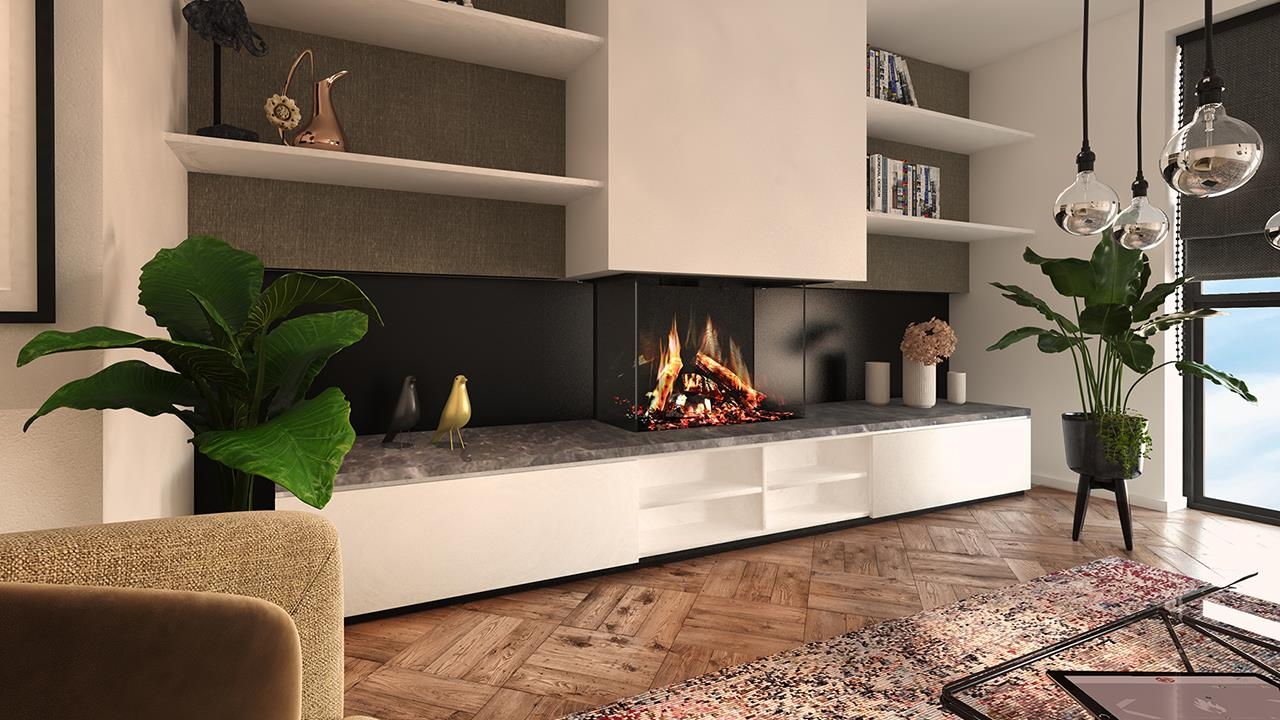 DRU Fires launches 3D flame picture electric fire image