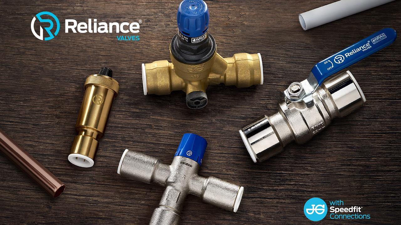 All new Reliance Valves' push-fit range with JG Speedfit technology image