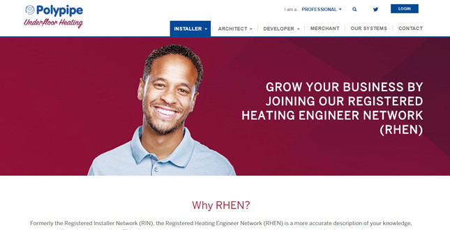 Polypipe removes sign-up fees for renamed Registered Heating Engineer Network image