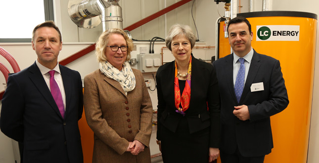 Theresa May opens FE college biomass training facility image