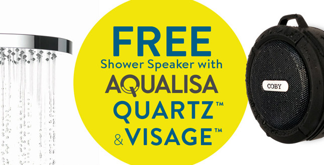 Aqualisa launches waterproof speaker giveaway with shower purchases image