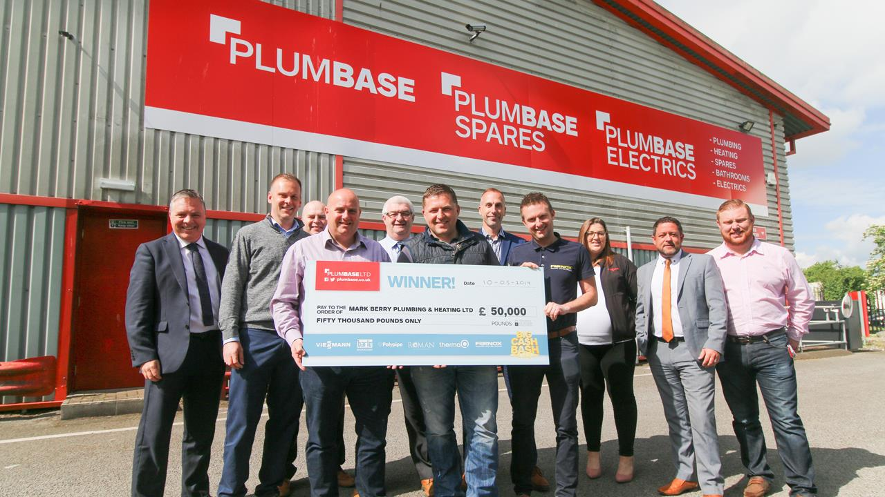 Installers share £65k thanks to Plumbase competition image
