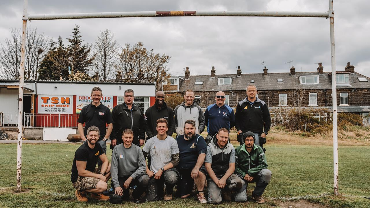New heating system for amateur rugby club thanks to Heat for Good installers image