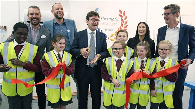 Greater Manchester Mayor cuts ribbon at HVAC academy launch image