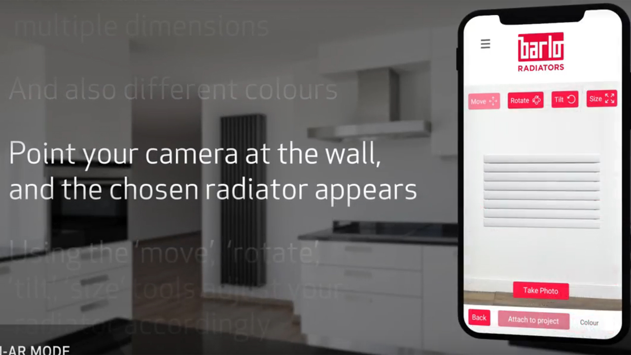 Barlo Radiators launches AR app and how to video image