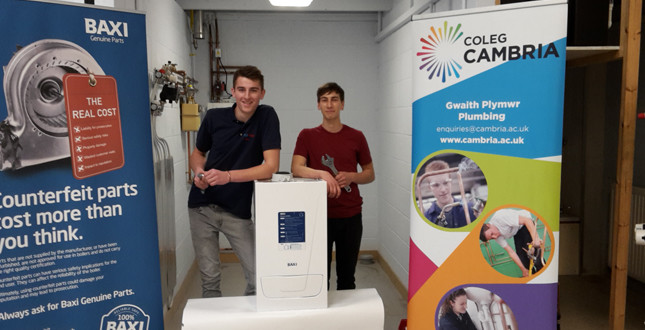 Baxi donates boilers to college image