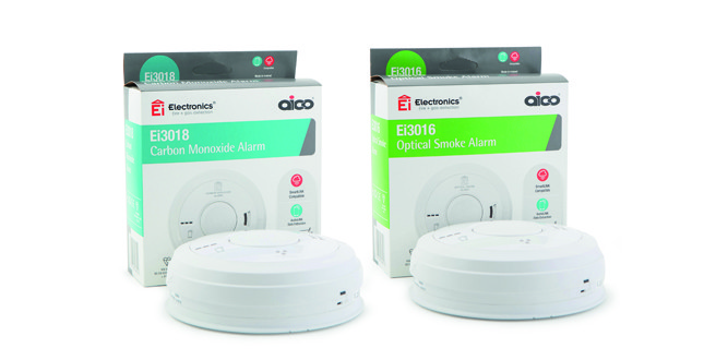New Aico 3000 series fire and CO alarms image